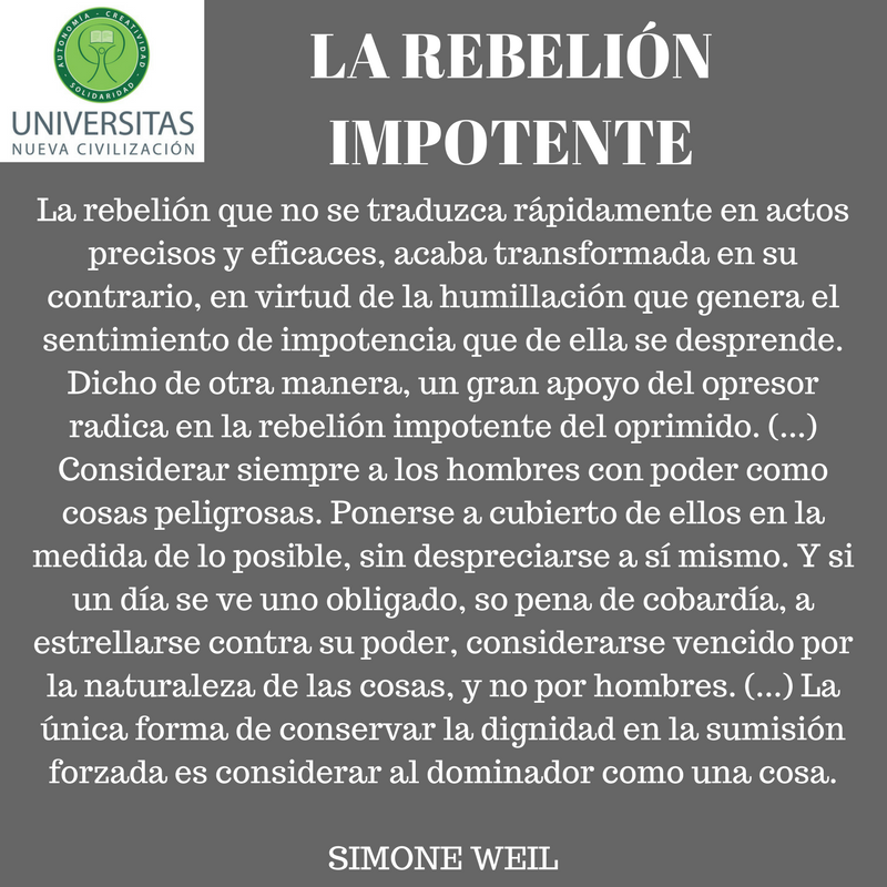 La rebelión impotente.