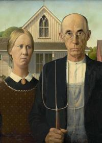 AMERICAN GOTHIC - Grant Wood